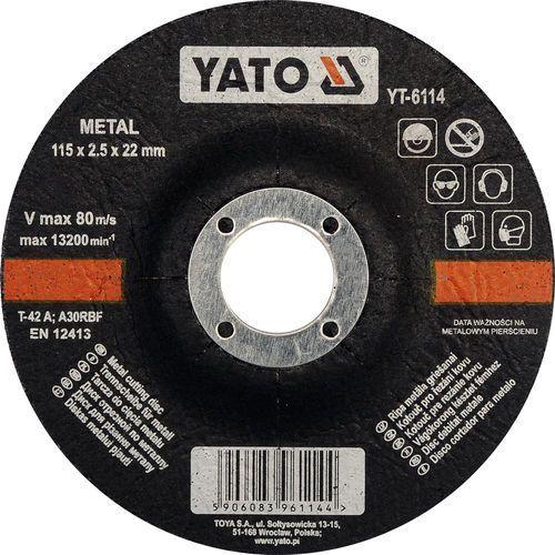 Tarcza do cięcia metalu 115x2,5x22 mm / SZYBKA WYSYŁKA / BEZPŁATNY ODBIÓR: WROCŁAW ze sklepu Toya24