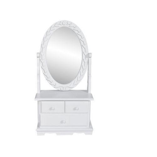 Toaletka z ruchomym lustrem i szufladami, biała - oferta [0555d24f639f1555]