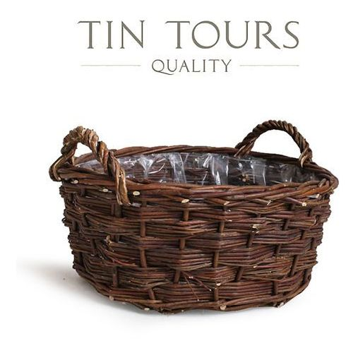 Produkt DUŻY KOSZ Z WIKLINY 42x42x17/23 cm, marki Tin Tours Sp.z o.o.