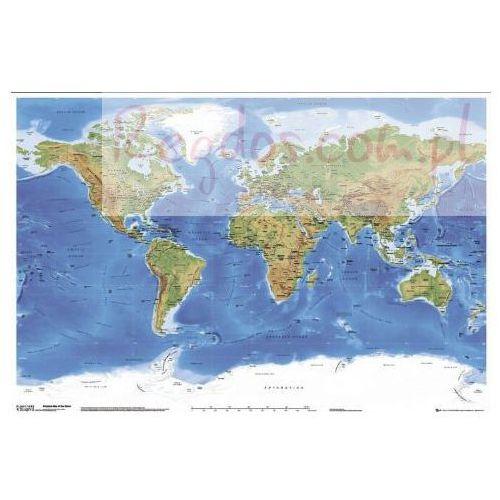 Fizyczna Mapa Świata z Podziałem Politycznym - plakat, produkt marki gb