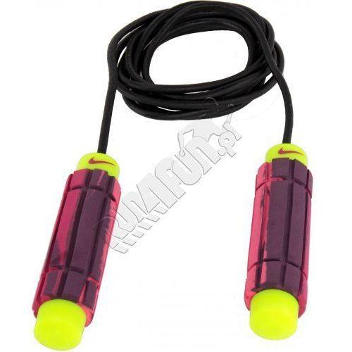 Łożyskowa skakanka z obciążnikami -  Weighted Rope 2.0, kolor: różowy/czarny-fluorescencyjny żółty, produkt marki Nike