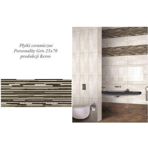 Płytki ceramiczne Personality Decorado Duomo Gris 25x70 P470 produkcji Keros (glazura i terakota)