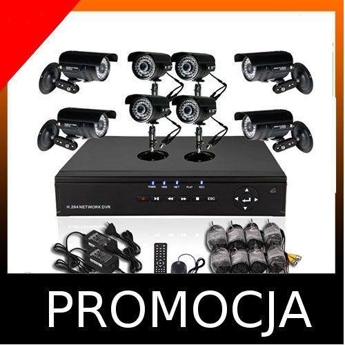 Rejestrator 8kanałów dvr+8 kamer dzień/noc wyprodukowany przez Kamery