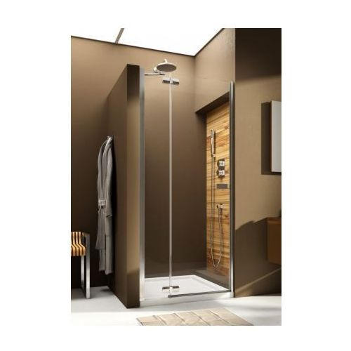 AQUAFORM VERRA LINE Drzwi wnękowe 80 lewe, profile chrom, szkło transparentne + DP Active 103-09400 (drzwi p