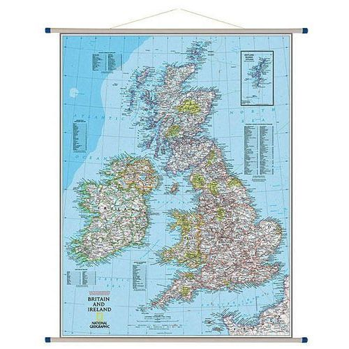 Wyspy Brytyjskie. Mapa ścienna Classic 1:1,7 mln wyd. , produkt marki National Geographic