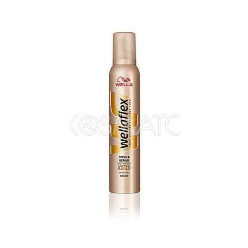 Produkt z kategorii- pozostałe kosmetyki do włosów - Wellaflex Style & Repair (Stylizacja i Odnowa) Pianka, 200 ml