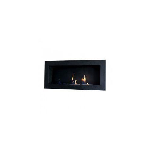 Biokominek dekoracyjny prostokątny 90x40 czarny Flat - EcoFire - oferta [056ddcaf0fa305bc]