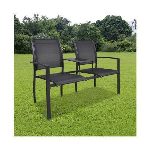 Metalowe krzesła ogrodowe z mini stolikiem, produkt marki vidaXL