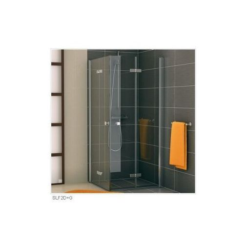 SANSWISS SWING F-LINE Wejście narożne z drzwiami dwuczęściowymi składanymi SLF2 D+G (drzwi prysznicowe)