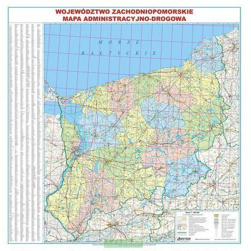 Województwo Zachodniopomorskie. Mapa ścienna administracyjno-drogowa 1:200 000 wyd. , produkt marki Eko-Graf