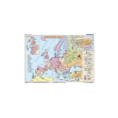 Produkt Europa XII-XIII w / Imperium mongolskie w XIII w. Mapa ścienna Europy. , marki Meridian