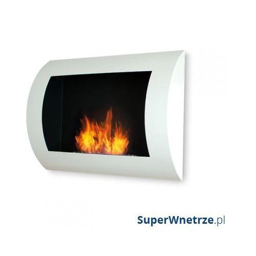 Biokominek dekoracyjny 60x45 cm EcoFire Convex biały - oferta [35614f712795c584]