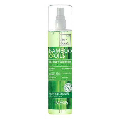 HairGenic bamboo & oils Odżywka ochronna 200 ml - produkt z kategorii- odżywki do włosów