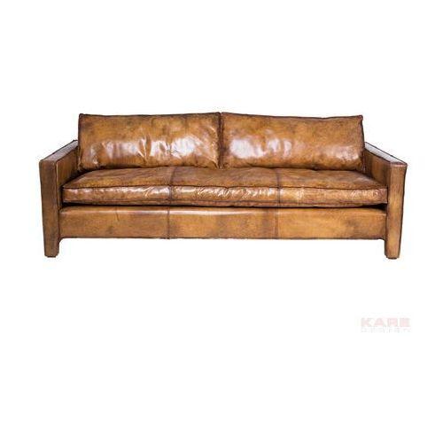 Comfy Brązowa Sofa ze Skóry Naturalnej 215x93x60cm - 77635, Kare Design