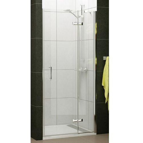 SANSWISS PUR LIGHT drzwi jednoczęściowe ze ścianką stałą lewe 90 PLG09005007 (drzwi prysznicowe)