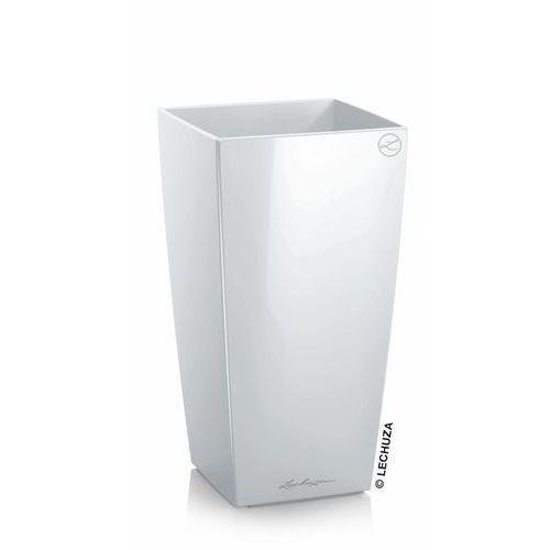 Donica Lechuza Mini Cubi   Maxi Cubi biała, produkt marki Produkty marki Lechuza