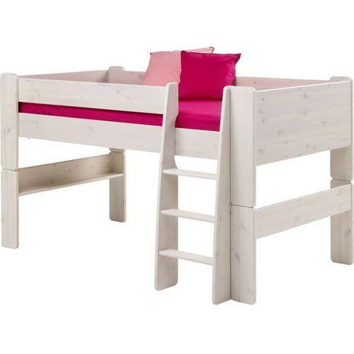 Łóżko piętrowe niskie Steens for kids - sosna biel. szczotkowana ze sklepu Meble Pumo