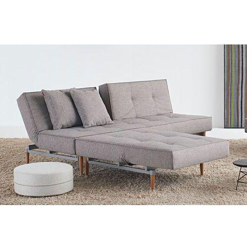 Istyle Splitback Sofa Rozkładana, Szara MIXED Tkanina 521, nogi do wyboru - 741010521, Innovation
