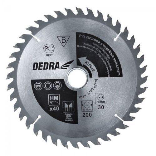 Tarcza do cięcia DEDRA H50060 500 x 30 mm do drewna + DARMOWA DOSTAWA! ze sklepu ELECTRO.pl