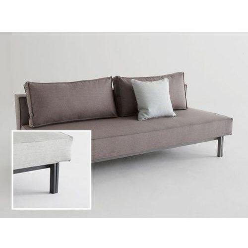 Sofa Sly szara 216 nogi czarny mat  543071CN216216-02-543070-2, INNOVATION iStyle