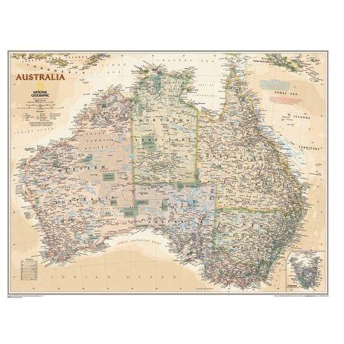 Australia. Mapa ścienna polityczna Executive w ramie 1:6,4 mln wyd. , produkt marki National Geographic