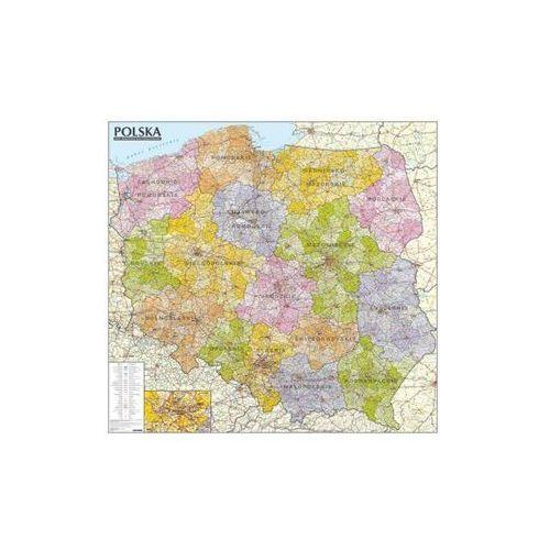 Polska Mapa ścienna administracyjno-samochodowa 1:570 000 , produkt marki ExpressMap