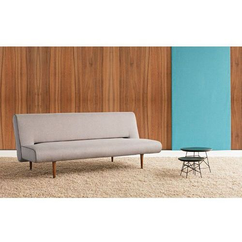 Istyle Unfurl, Sofa Rozkładana, szara tkanina 217, nogi drewniane - 772001217-3-2