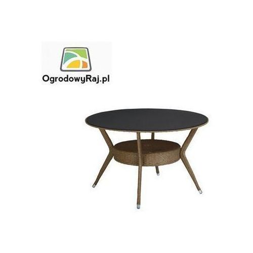 MEDOC Stół okrągły 103 cm, lita płyta ze szkła bezpiecznego 0305216-2200 (stół ogrodowy)