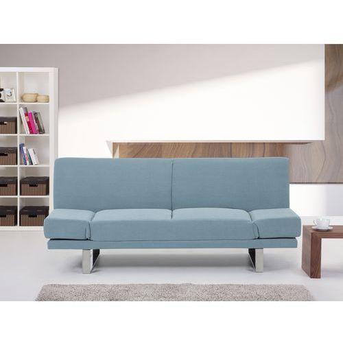 Rozkladana sofa ruchome podlokietniki - YORK mietowy, Beliani