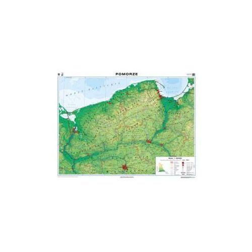 Produkt Pomorze. Mapa regionalna ogólnogeograficzna / krajobrazowa. Mapa ścienna Pomorza, marki Nowa Era