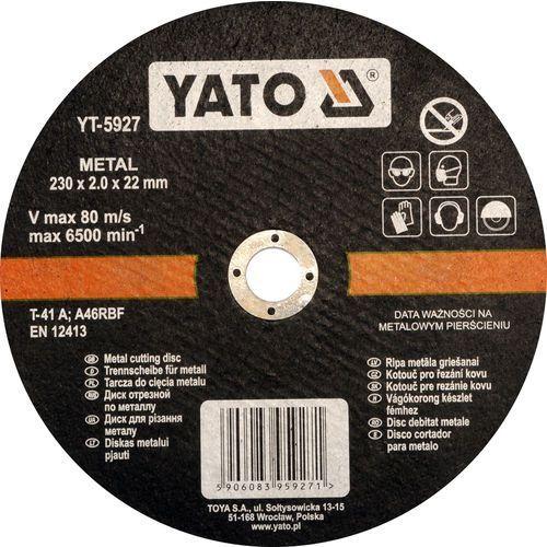 Oferta Tarcza do cięcia metalu 230x2,0x22 mm YT-5927