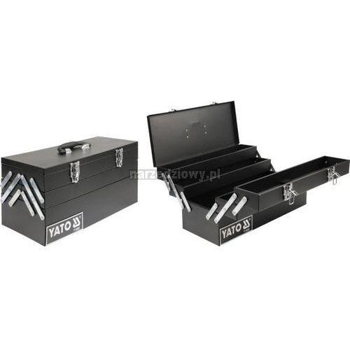 Towar z kategorii: skrzynki i walizki narzędziowe - YATO Skrzynka narzędziowa, metalowa 460x200x225 mm 10 ur