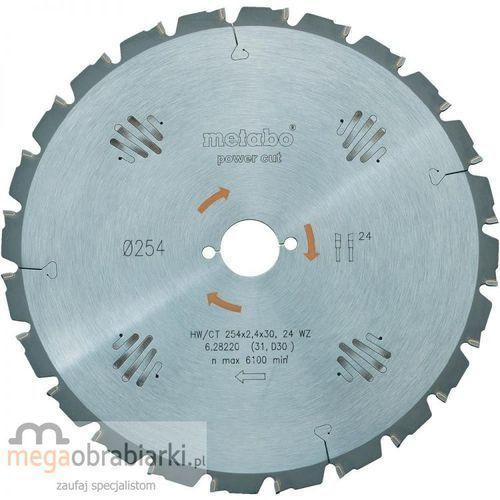 Oferta METABO Piła tarczowa HW/CT 254x30 mm Z=24 RATY 0,5% NA CAŁY ASORTYMENT DZWOŃ 77 415 31 82