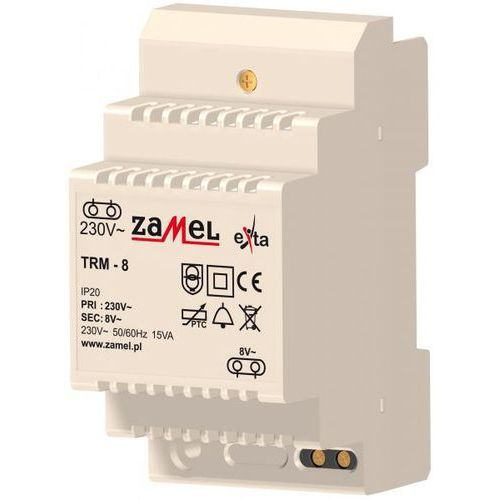 TRANSFORMATOR 230/8V AC 15VA TYP: TRM-8 z kategorii Transformatory
