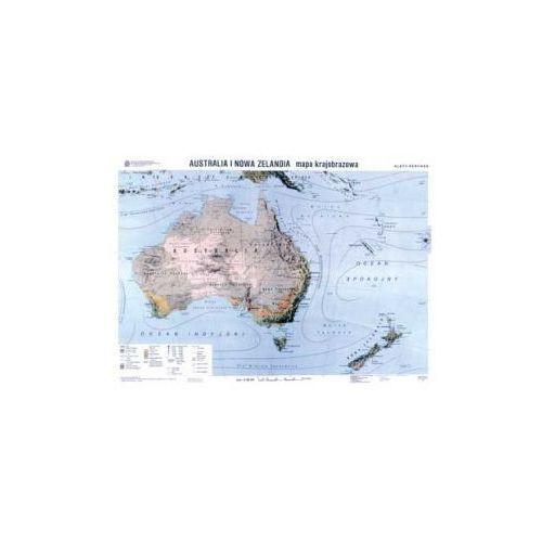 Produkt Australia i Nowa Zelandia. Mapa krajobrazowa / konturowa. Mapa ścienna Australii, marki Nowa Era