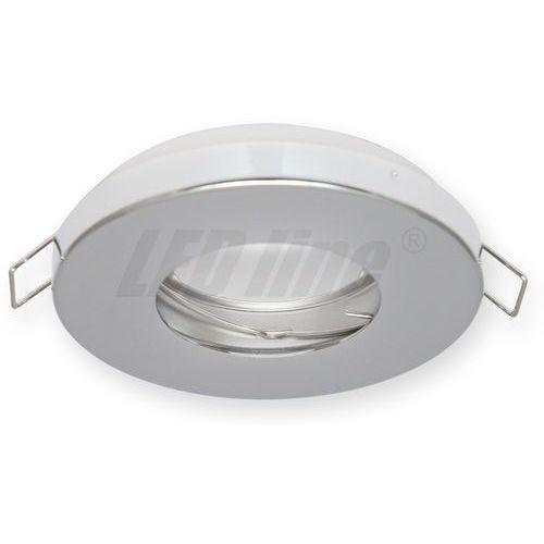 LED line Oprawa oprawka led halogenowa wodoodporna stała okrągła kolor chrom IP65 245411 z kategorii oświetlenie