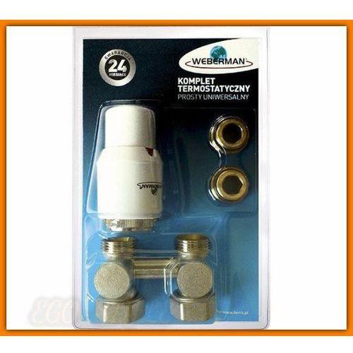 ZTV03 WEBERMAN komplet termostatyczny zestaw grzejnikowy prosty z głowicą 0101/B FERRO
