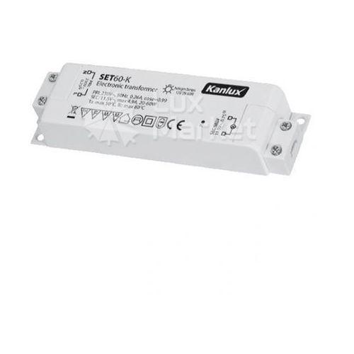 Kanlux - Transformator elektroniczny SET60-K 12V 20-60W - 1425 - Autoryzowany partner KANLUX. 10 lat w interne