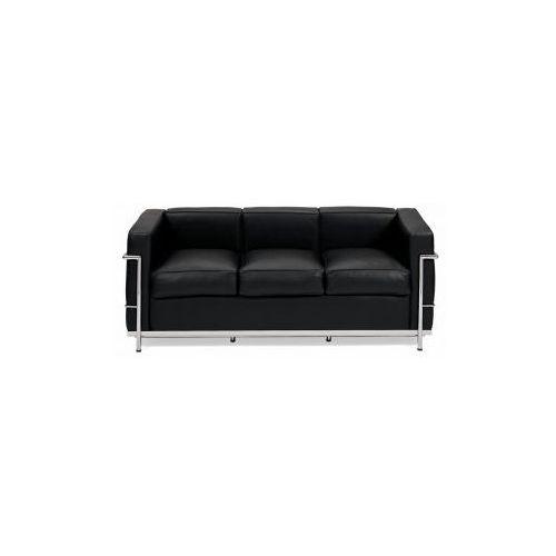 Sofa trzyosobowa Kubik inspirowana LC2, D2