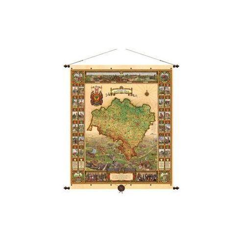 Województwo dolnośląskie mapa ścienna 97x116 cm , produkt marki Pergamena