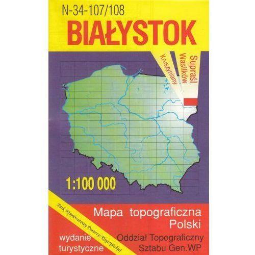 N-34-107/108 Białystok. Mapa topograficzno-turystyczna 1:100 000 wyd. WZ-Kart, produkt marki Wojskowe Zakłady Kartograficzne