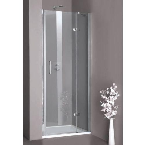 HUPPE AURA ELEGANCE Drzwi wnękowe 80x190 prawe, srebrny mat, szkło transp. 400201087321 (drzwi prysznicowe)