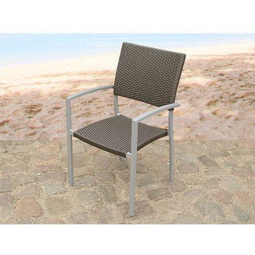 Meble ogrodowe rattan ogród patio weranda krzeslo aluminium TORINO ze sklepu BELIANI.PL