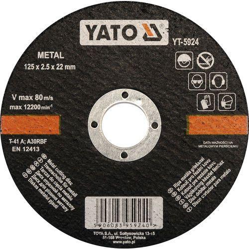 Oferta Tarcza do cięcia metalu 125x2,5x22 mm YT-5924