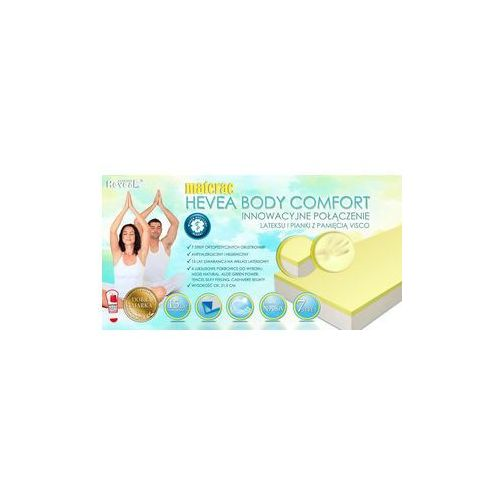 Hevea Body Comfort Visco Materac lateksowy z pokrowcem 140x 200 - Bubumarket.pl od Bubumarket.pl