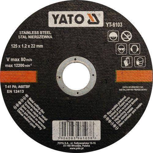 Oferta Tarcza do cięcia stali nierdzewnej 125x1,2x22 mm YT-6103