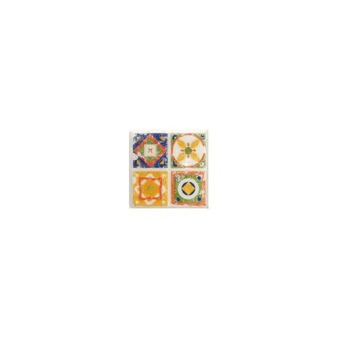 Tubądzin Dekor ścienny Majolika Quartet 2 11,5x11,5 cm (glazura i terakota)