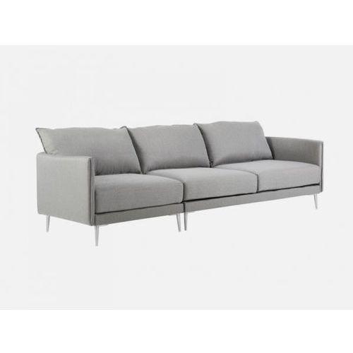 Sofa Alva szara BRALLO 4 grey nogi alu  E1409-0402-2S-BRALLO4-128ALU, Sits