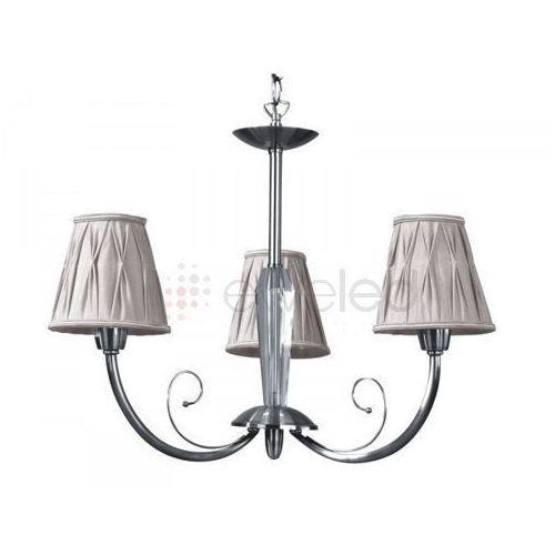 Artykuł LATINA żyrandol 3 x 40W E14 CHROM / BEŻOWY z kategorii lampy wiszące