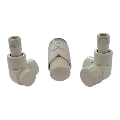 Instal-projekt Grzejnik  603700031 zestawy łazienkowe lux gz ½ x złączka 16x2 pex kątowy biały, kategoria: pozostałe ogrzewanie